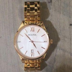 Bulova rose gold watch